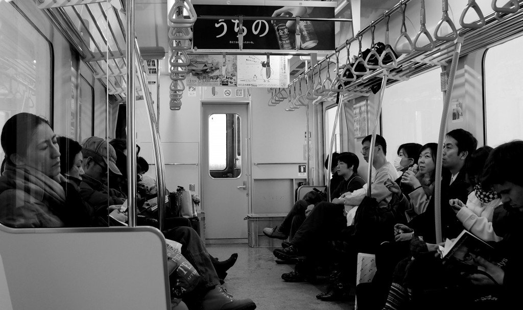 Train time = nap time in Japan