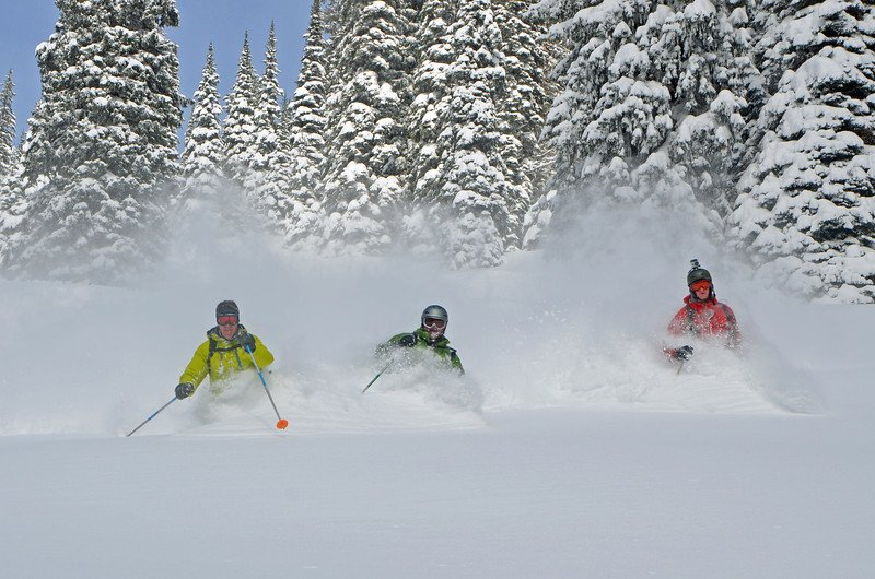 Deep powder in revelstoke