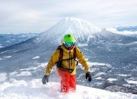 Skiing Hokkaido's backcountry in Japan