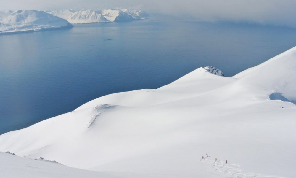 The white and wide arctic slopes