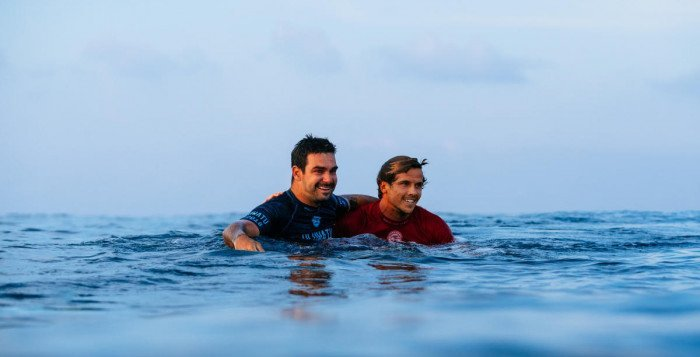 Willian Cardoso and Julian Wilson at Uluwatu