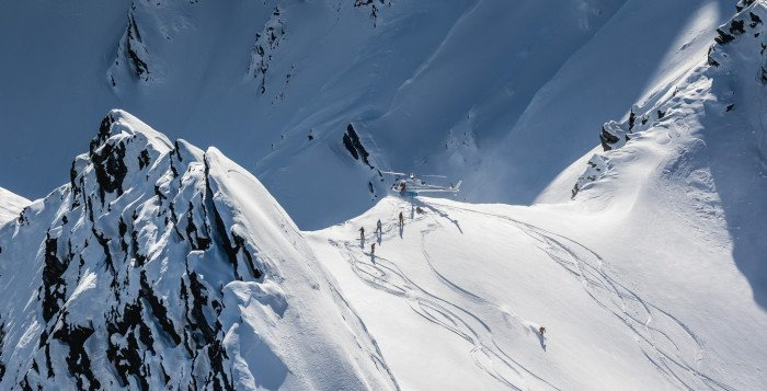 Heliskiing, and snowboarding in New Zealand