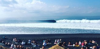 The WSL competition at Komune Resort in Keramas, Bali, Indonesia