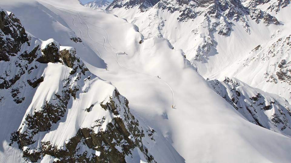 Heliskiing in the Andes