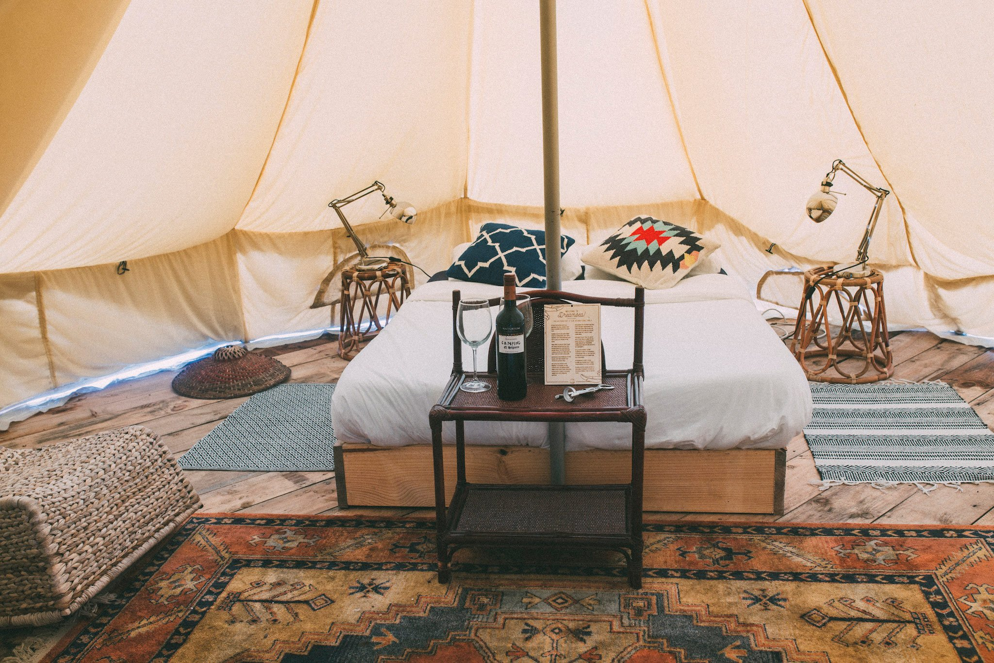 Glamping luxurious camping