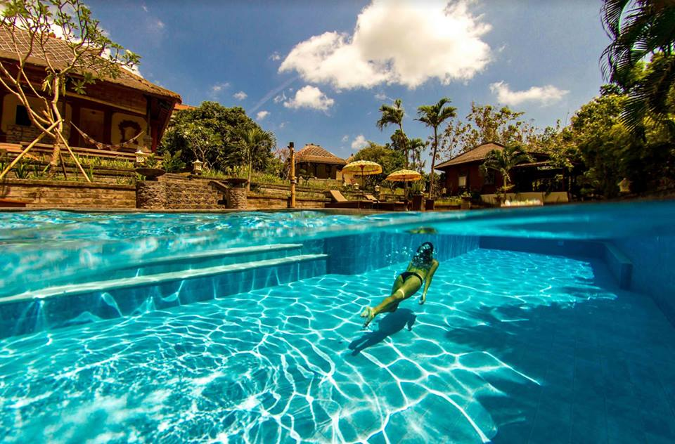 Pool dive in Bali