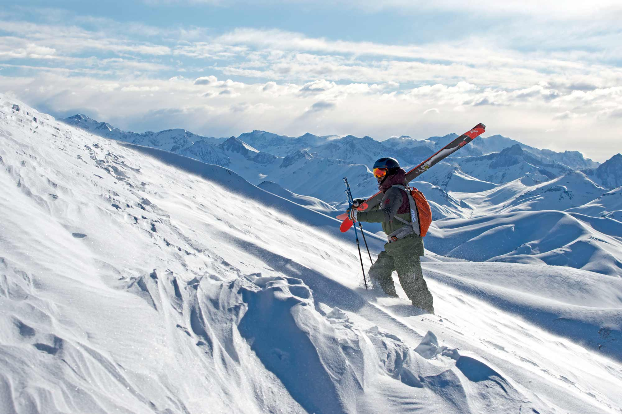 Backcoutry ski touring in the Andes