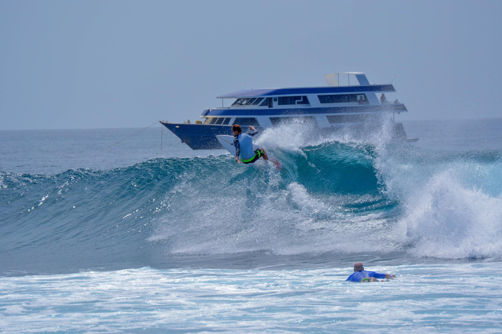Solo surfing on Blue Star