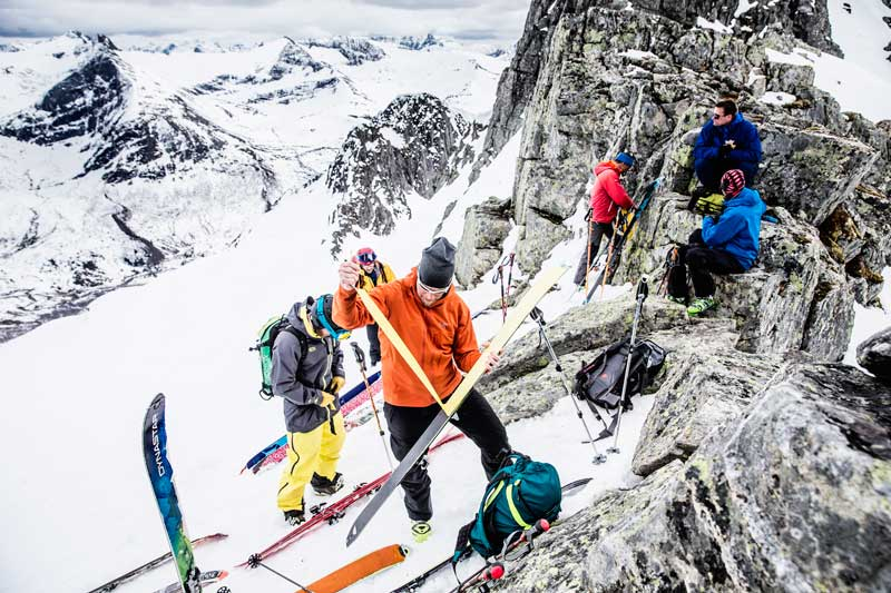 Backcountry skiing in Sunmore, Norway
