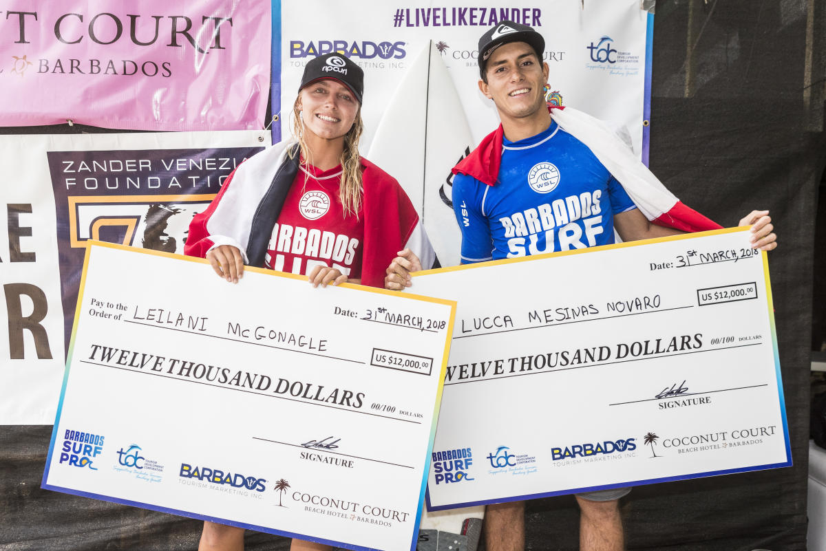 Equal prize money surfing