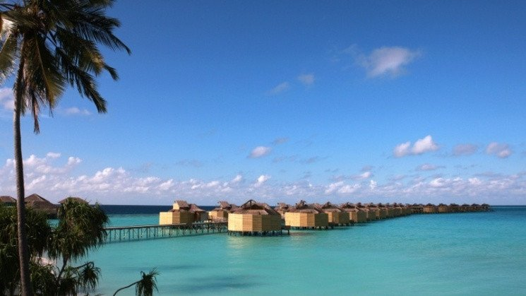 Six Senses Laamu water villas view